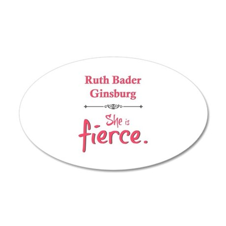 Ruth Bader Ginsburg is fierce Wall Decal