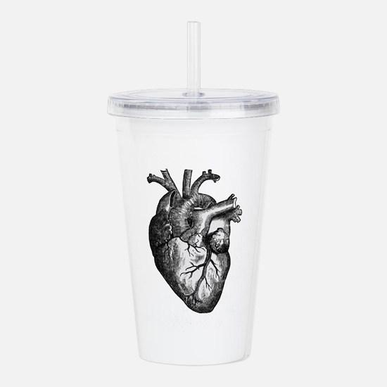 Vintage Heart Acrylic Double-wall Tumbler