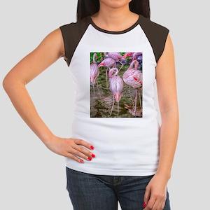Pink Flamingos Women's Cap Sleeve T-Shirt