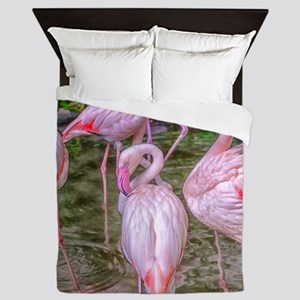 Pink Flamingos Queen Duvet