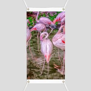Pink Flamingos Banner