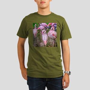 Pink Flamingos Organic Men's T-Shirt (dark)