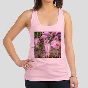 Pink Flamingos Racerback Tank Top
