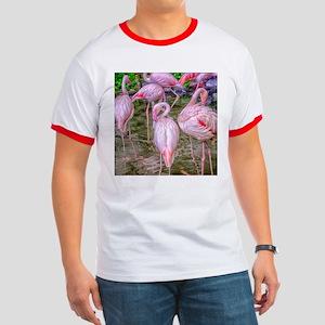 Pink Flamingos Ringer T