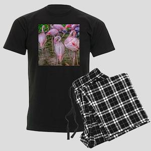 Pink Flamingos Men's Dark Pajamas