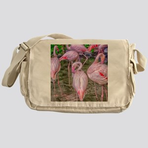 Pink Flamingos Messenger Bag