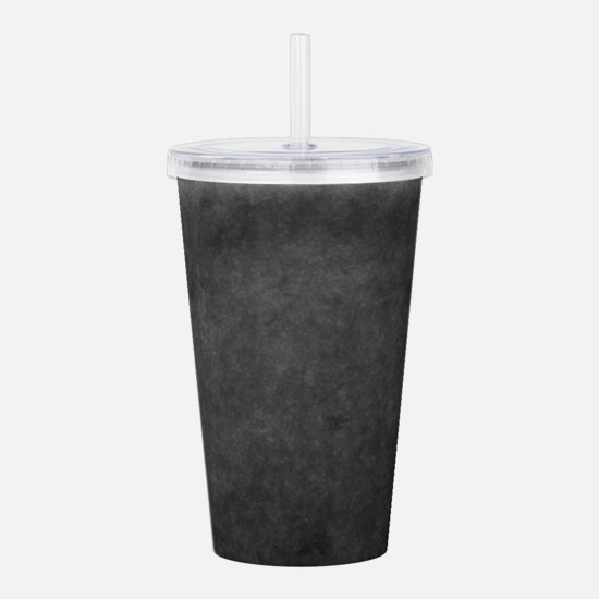 Grey suede texture Acrylic Double-wall Tumbler