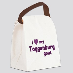 Toggenburg goat Canvas Lunch Bag
