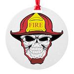 Skull Fireman Ornament