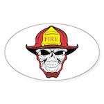 Skull Fireman Sticker