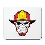 Skull Fireman Mousepad