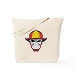 Skull Fireman Tote Bag