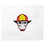Skull Fireman King Duvet