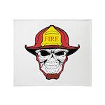 Skull Fireman Throw Blanket