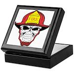 Skull Fireman Keepsake Box