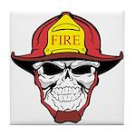 Skull Fireman Tile Coaster