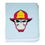 Skull Fireman baby blanket