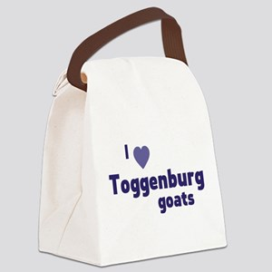 Toggenburg goats Canvas Lunch Bag