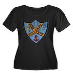 USS LEAR Women's Plus Size Scoop Neck Dark T-Shirt