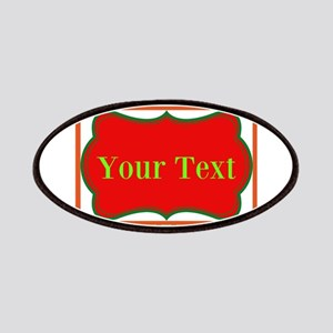 Personalizable Red and Green Polka Dots Patches