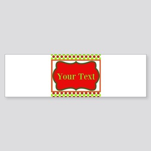 Personalizable Red and Green Polka Dots Bumper Sti