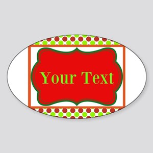 Personalizable Red and Green Polka Dots Sticker