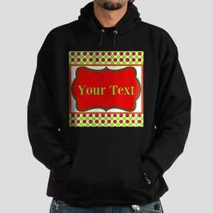 Personalizable Red and Green Polka Dots Hoodie