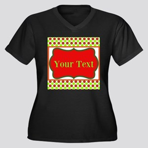 Personalizable Red and Green Polka Dots Plus Size