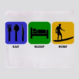 Eat Sleep Surf Throw Blanket