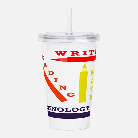 School Subjects Acrylic Double-wall Tumbler