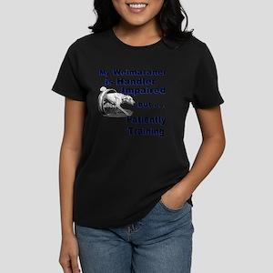 Weimaraner Agility Women's Dark T-Shirt