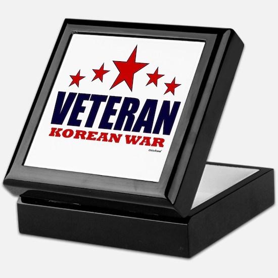 Veteran Korean War Keepsake Box