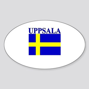 Uppsala, Sweden Oval Sticker