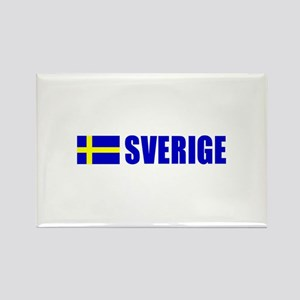 Sverige Flag Rectangle Magnet