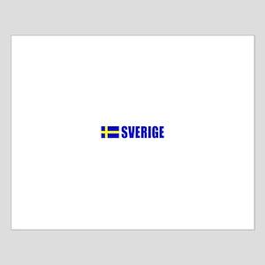 Sverige Flag Small Poster
