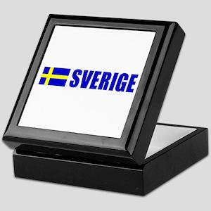 Sverige Flag Keepsake Box