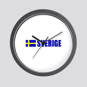 Sverige Flag Wall Clock