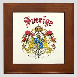 Sverige Coat of Arms Framed Tile