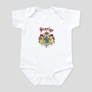 Sverige Coat of Arms Infant Bodysuit