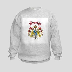 Sverige Coat of Arms Kids Sweatshirt