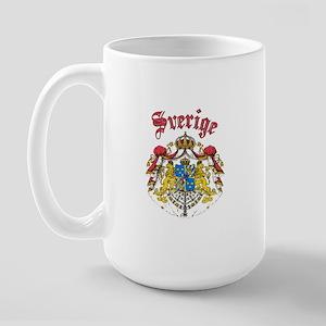 Sverige Coat of Arms Large Mug