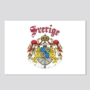 Sverige Coat of Arms Postcards (Package of 8)