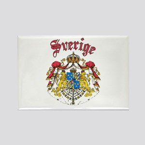 Sverige Coat of Arms Rectangle Magnet