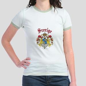 Sverige Coat of Arms Jr. Ringer T-Shirt