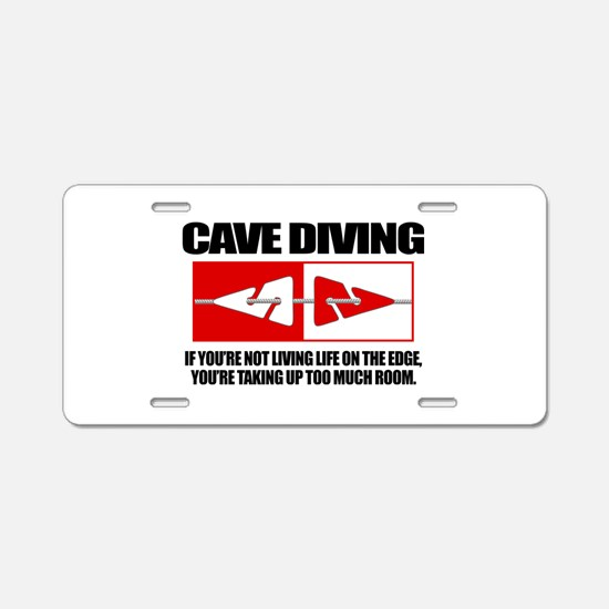 Cave Diving (LOTE) Aluminum License Plate