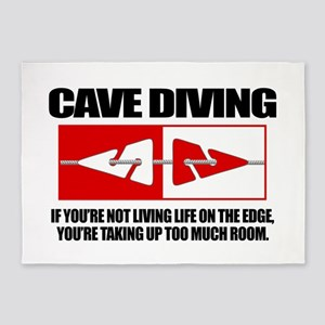Cave Diving (LOTE) 5'x7'Area Rug