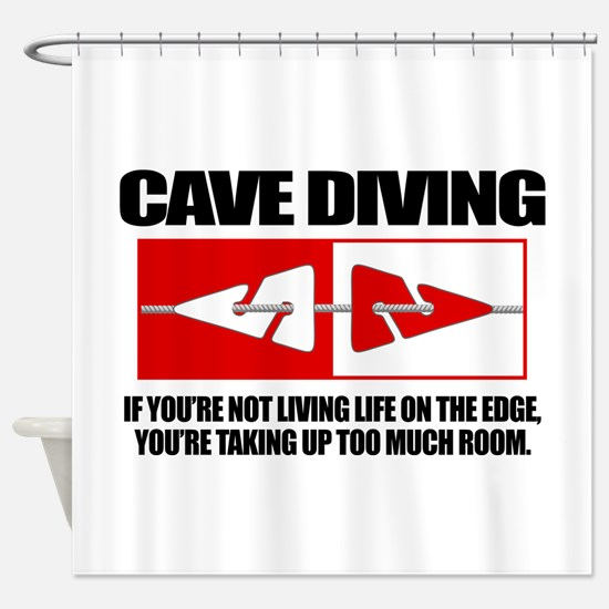 Cave Diving (LOTE) Shower Curtain