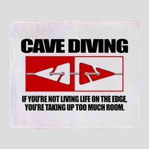 Cave Diving (LOTE) Throw Blanket