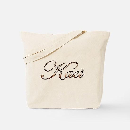 Gold Kaci Tote Bag
