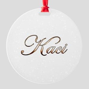 Gold Kaci Round Ornament